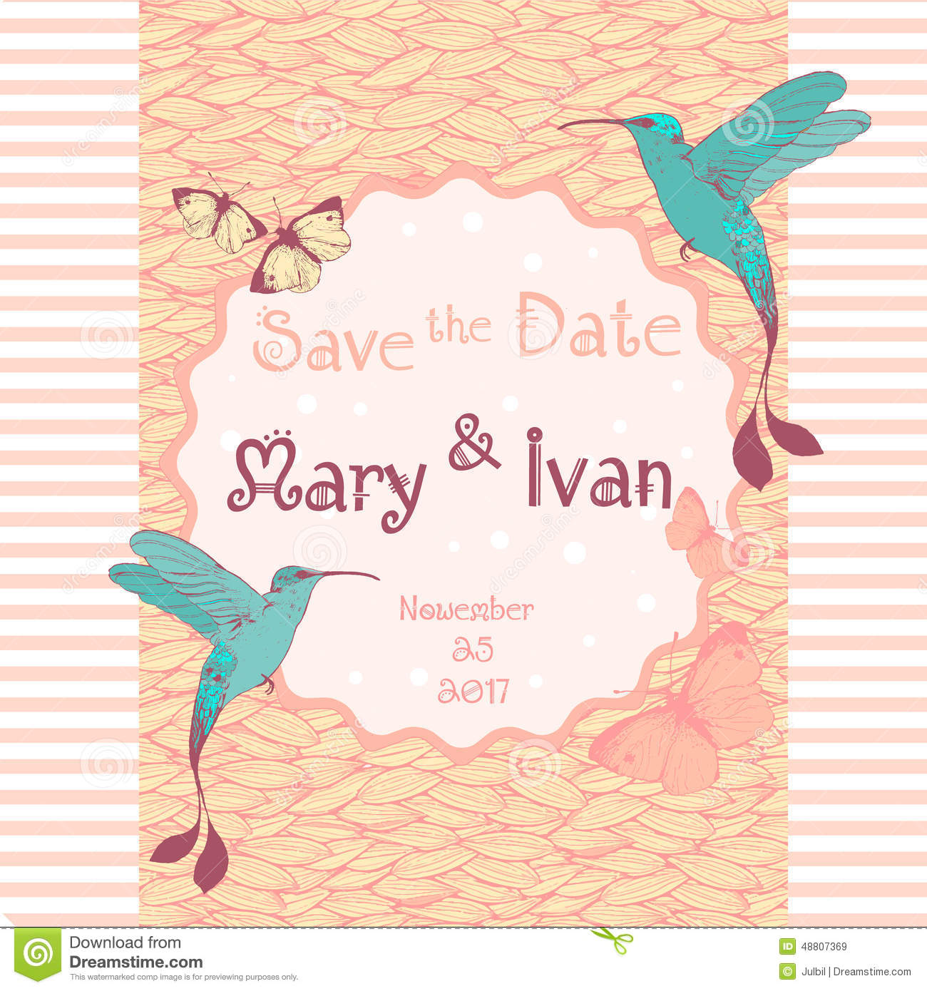 Wedding Invitation Card Editable With Background Stock Vector ...