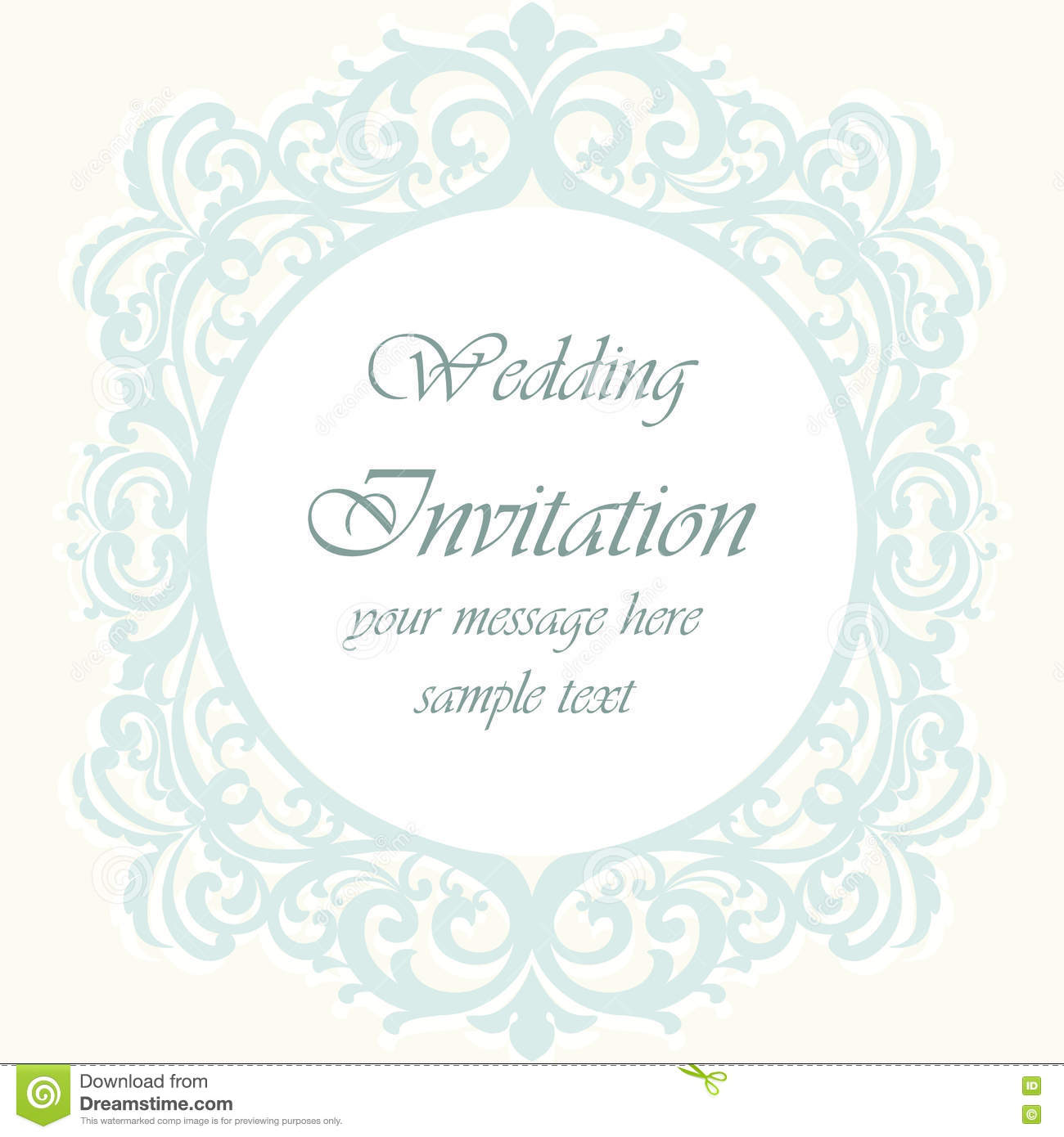 Wedding Invitation Card With Lace Ornament Stock Vector ...