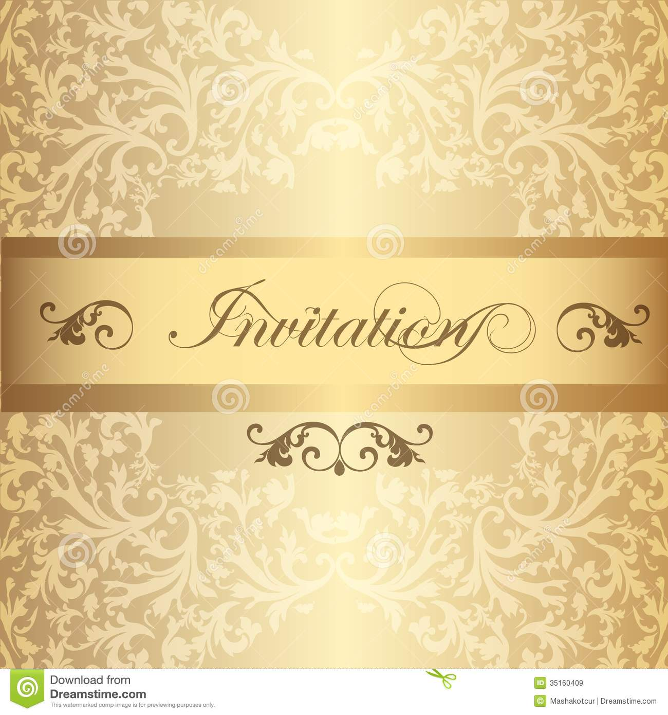 Wedding Invitation Card In Luxury Vintage Style Royalty Free – Vintage Invitation Cards