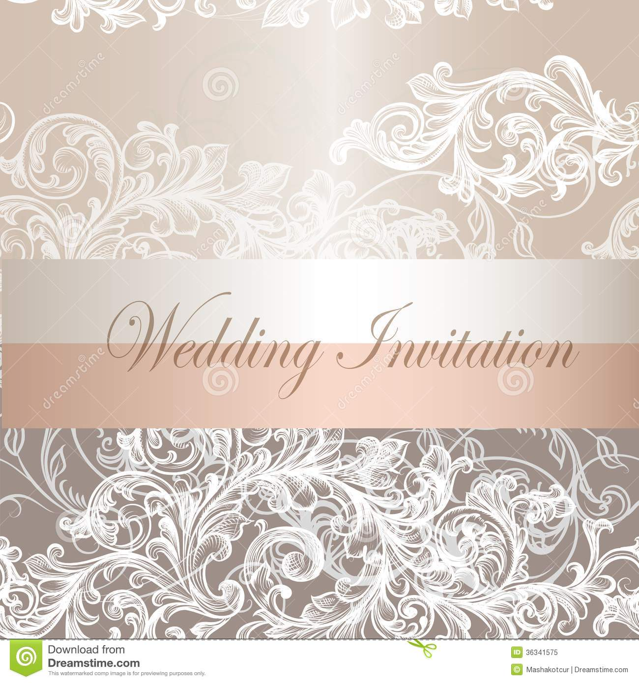 Wedding Invitation Card In Pastel Color Royalty Free Stock Photo
