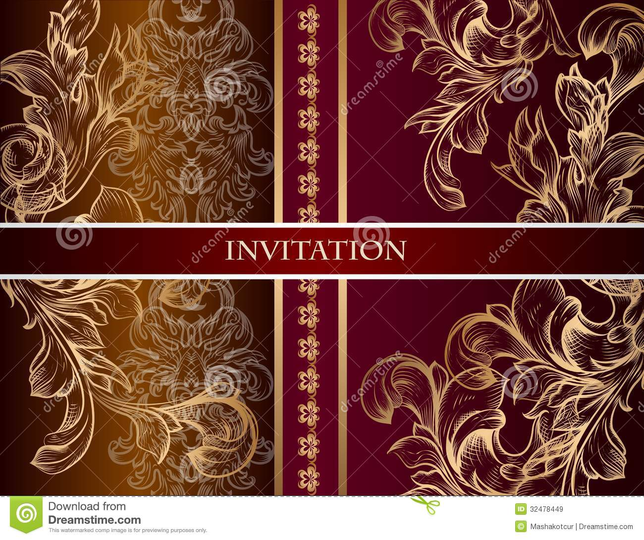 Wedding Invitation Card In Royal Style Stock Vector - Illustration ...