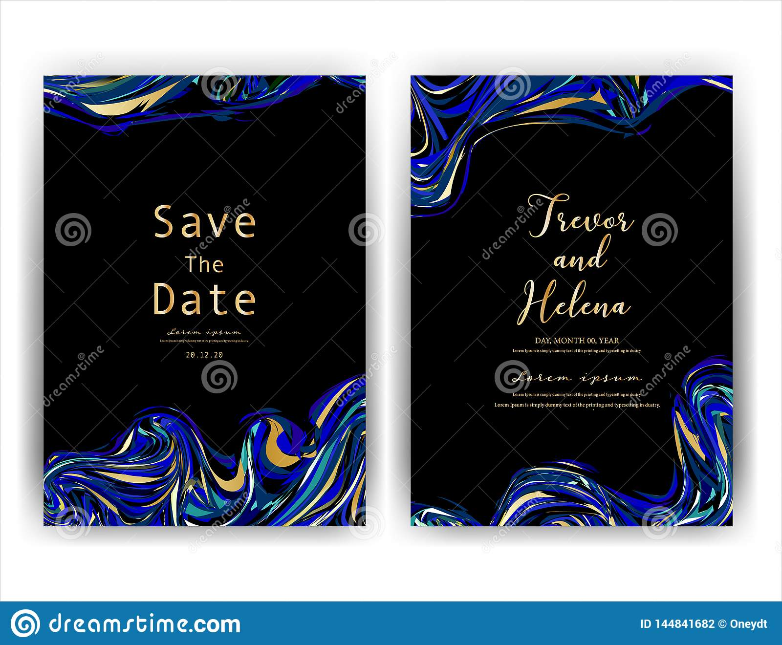 80003edd3fedf Wedding Invitation Card, Save The Date Wedding Card, Modern Card ...