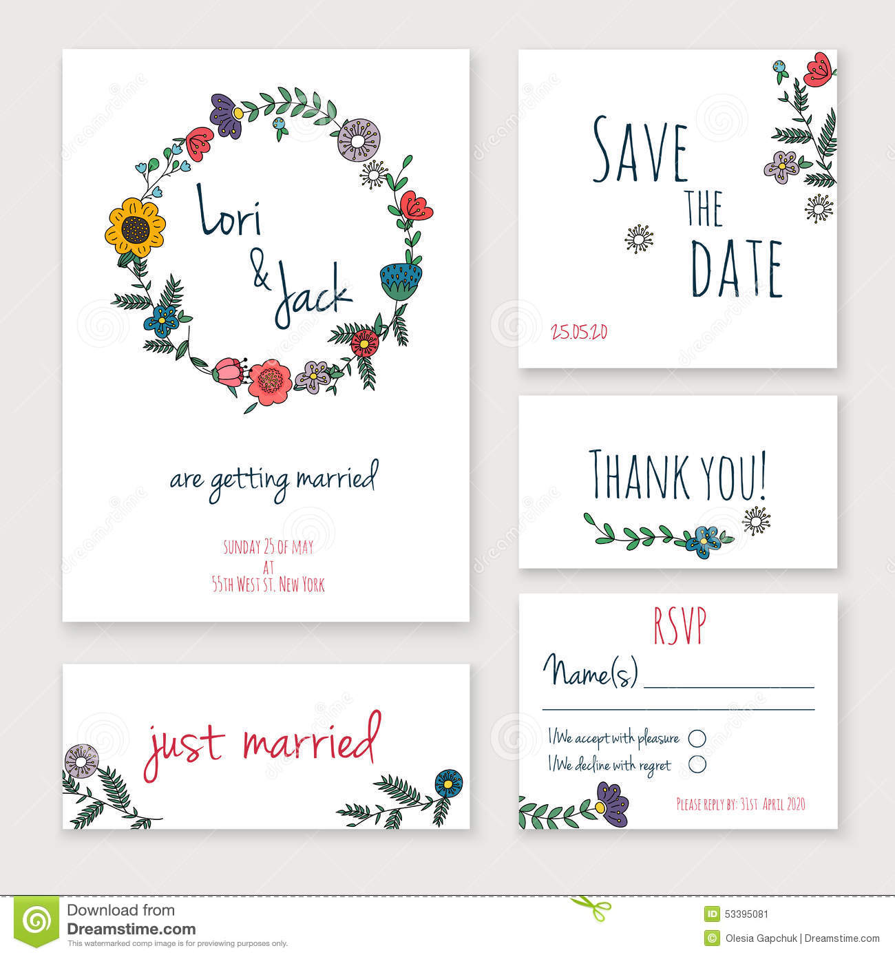 wedding invitation card set thank you card save the date cards rsvp