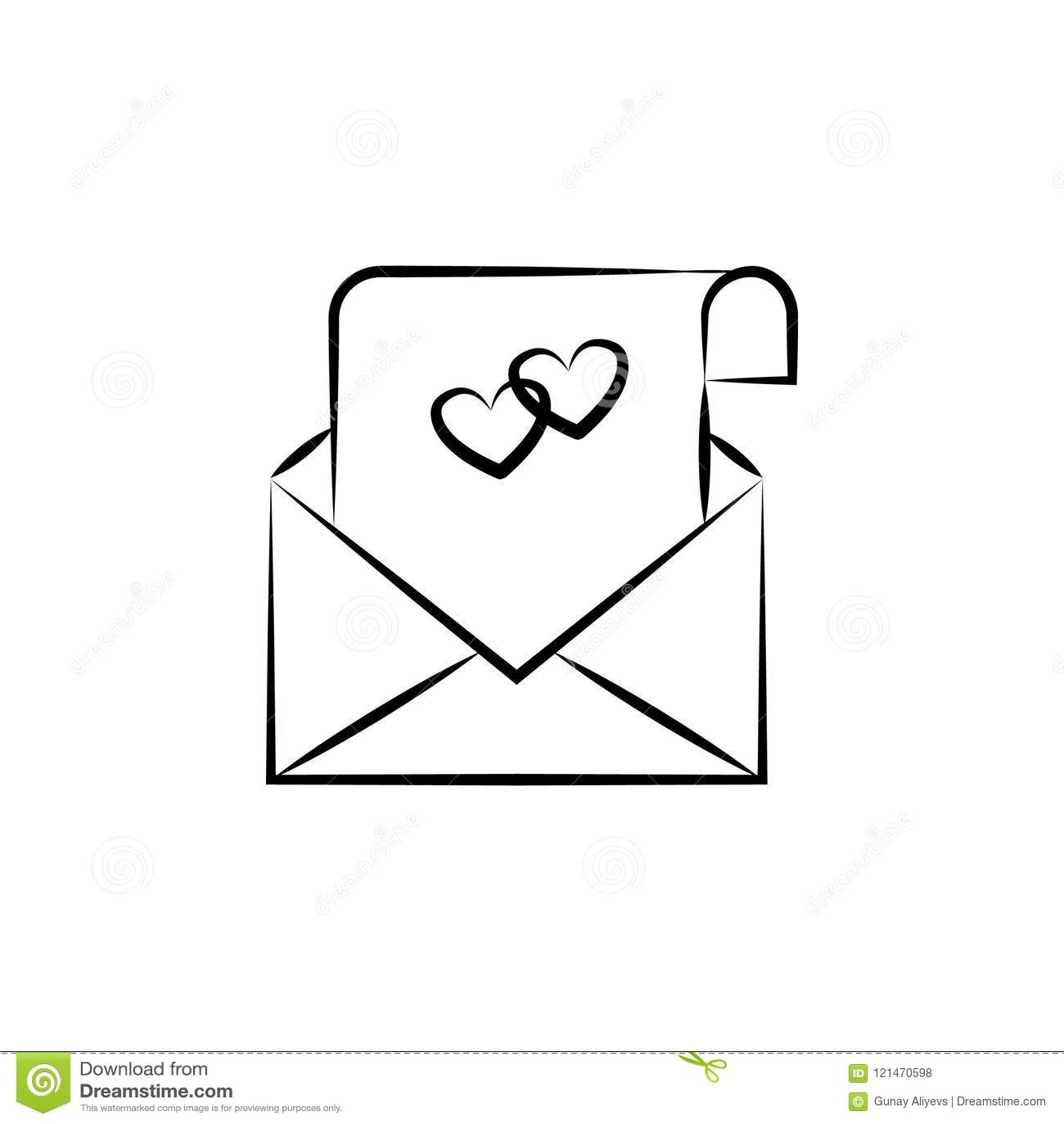 Wedding Invitation Card Sketch Illustration Element Of