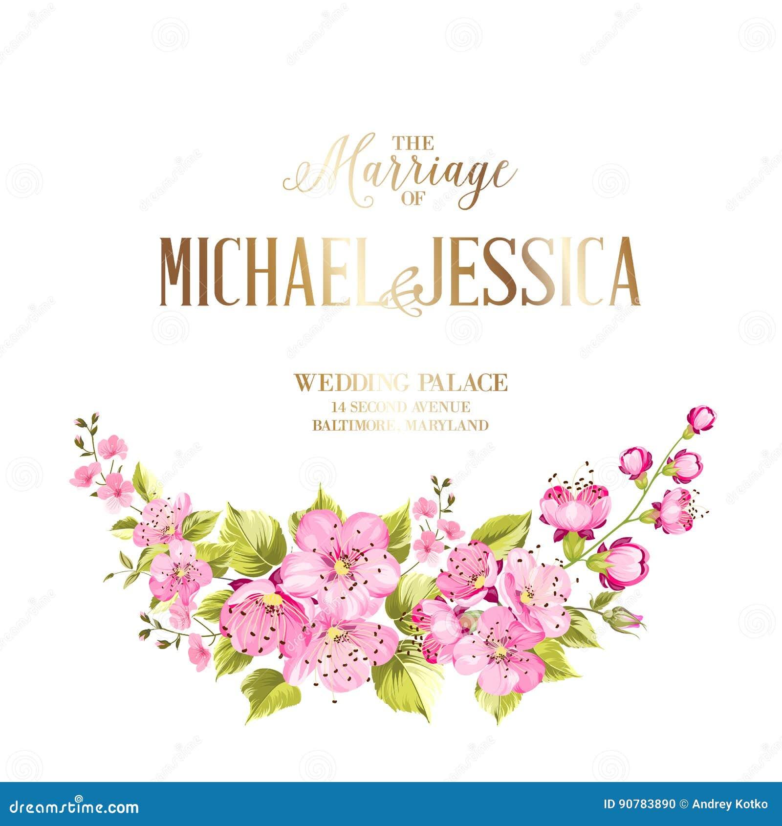 Wedding invitation card stock vector illustration of invitation download comp mightylinksfo
