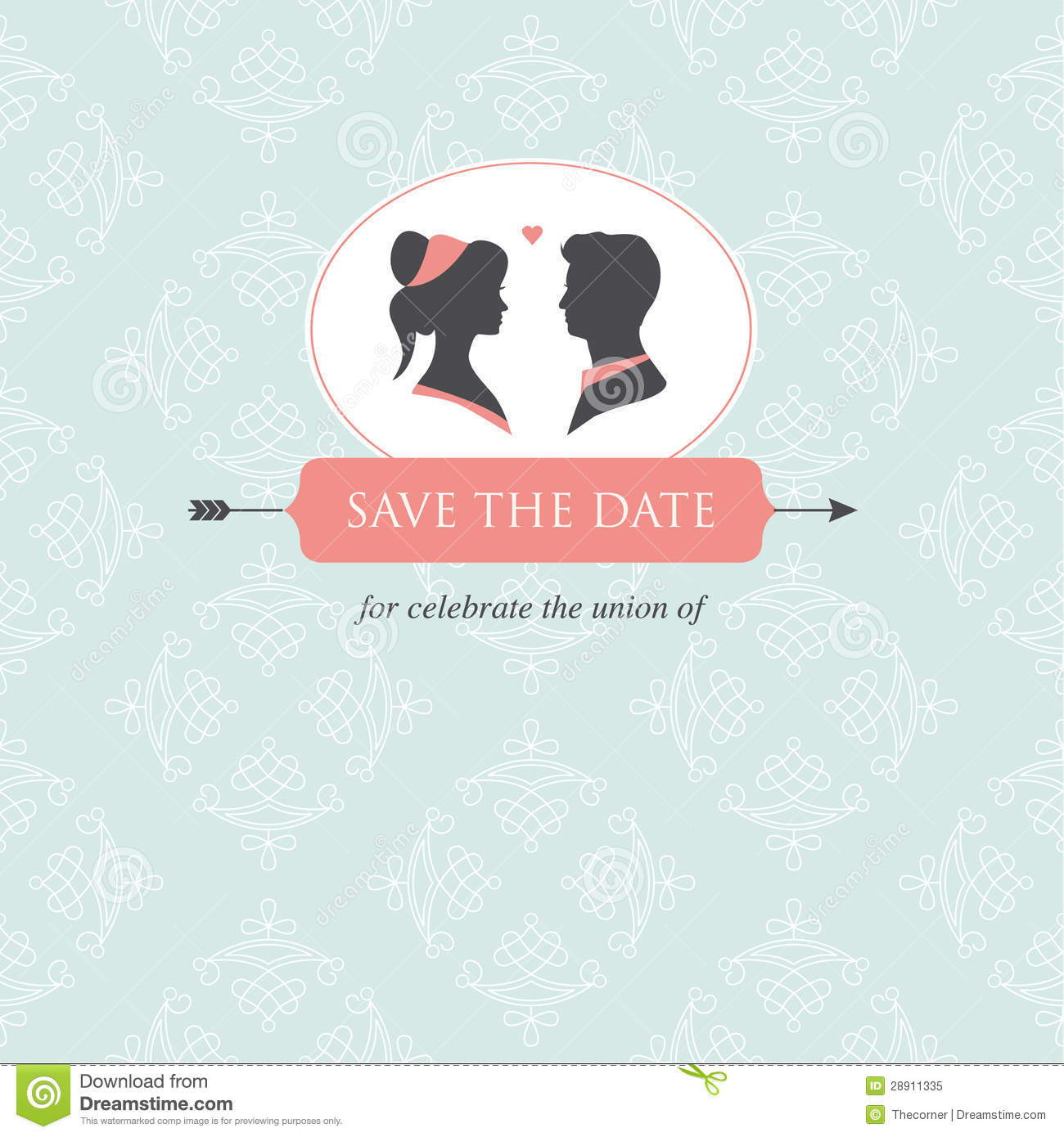 Wedding Invitation Card Template Stock Illustration - Illustration ...