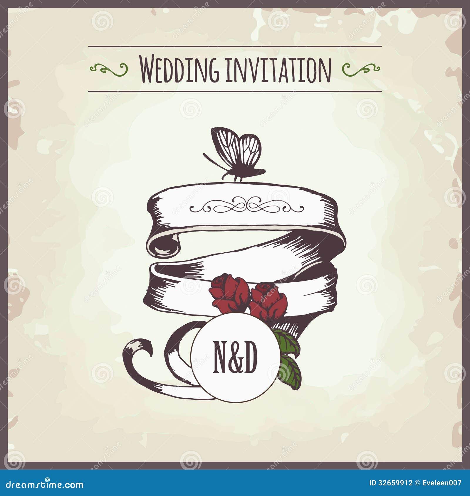 Wedding Invitation Stock Photography - Image: 32659912
