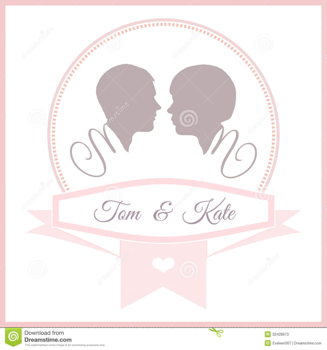 wedding invitation card template stock vector illustration of marriage graphic 32428973. Black Bedroom Furniture Sets. Home Design Ideas