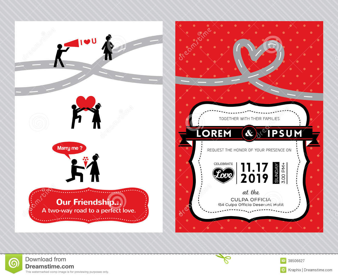 Wedding Invitation Card Template Stock Vector Illustration Of - Cute wedding invitation templates