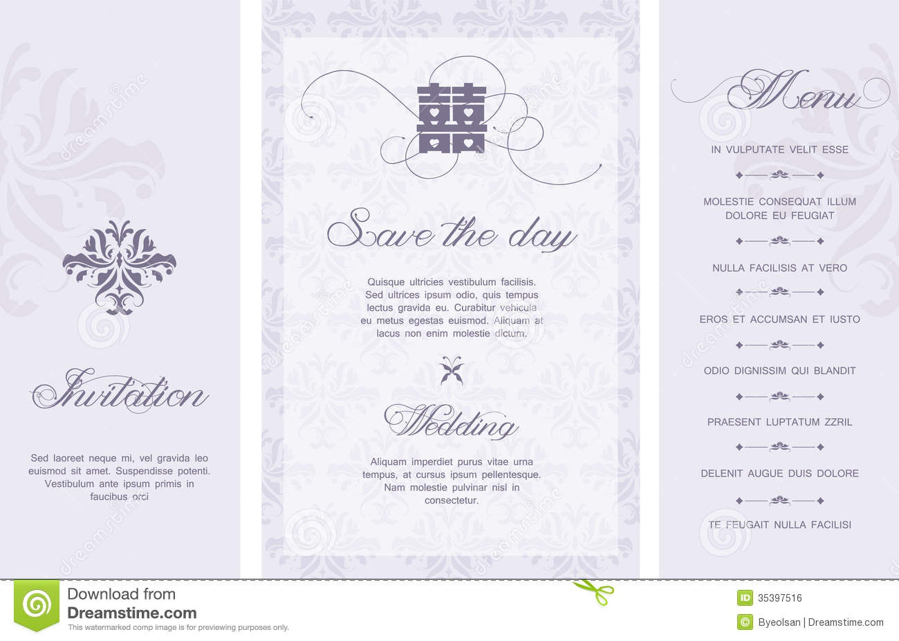 Wedding Invitation Stock Vector Illustration Of Card - Wedding invitation templates: free templates for wedding invitations