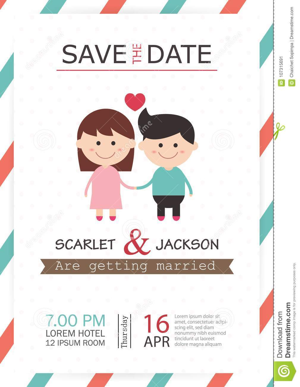 Wedding invitation card template vector illustration wedding download wedding invitation card template vector illustration wedding invitation card editable with background save the stopboris Choice Image