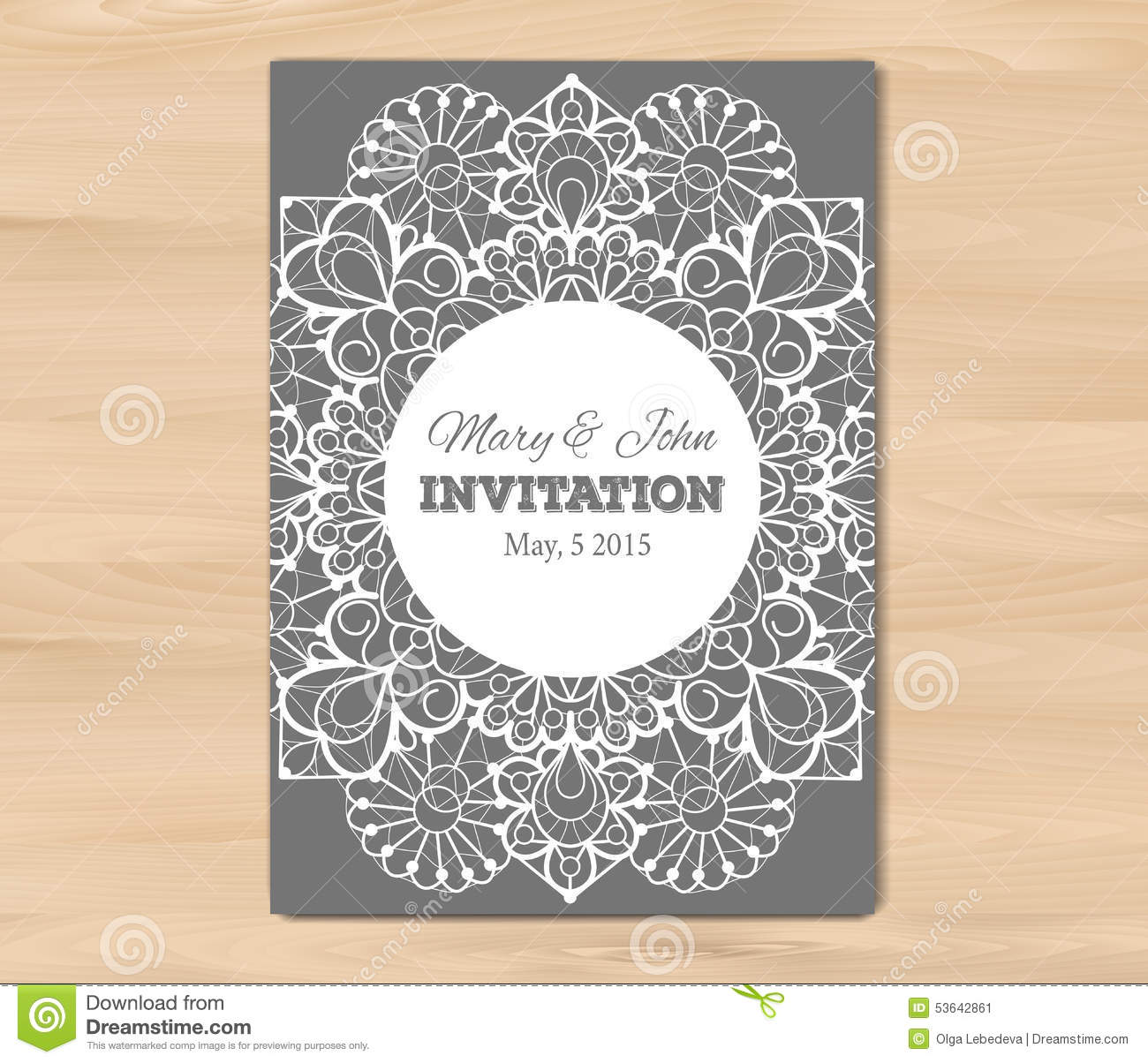 wedding invitation card template stock vector image 53642861. Black Bedroom Furniture Sets. Home Design Ideas