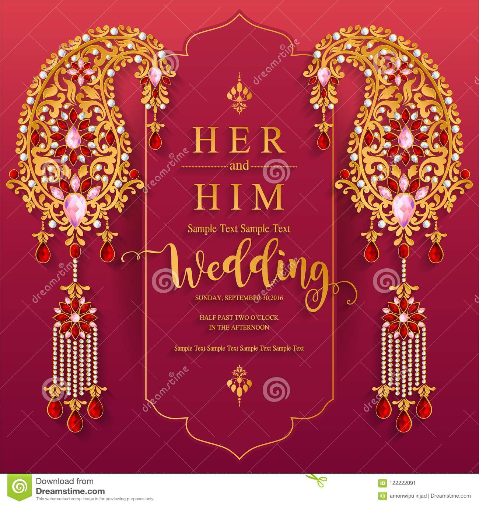 Wedding Invitation Card Templates . Stock Vector - Illustration of ...
