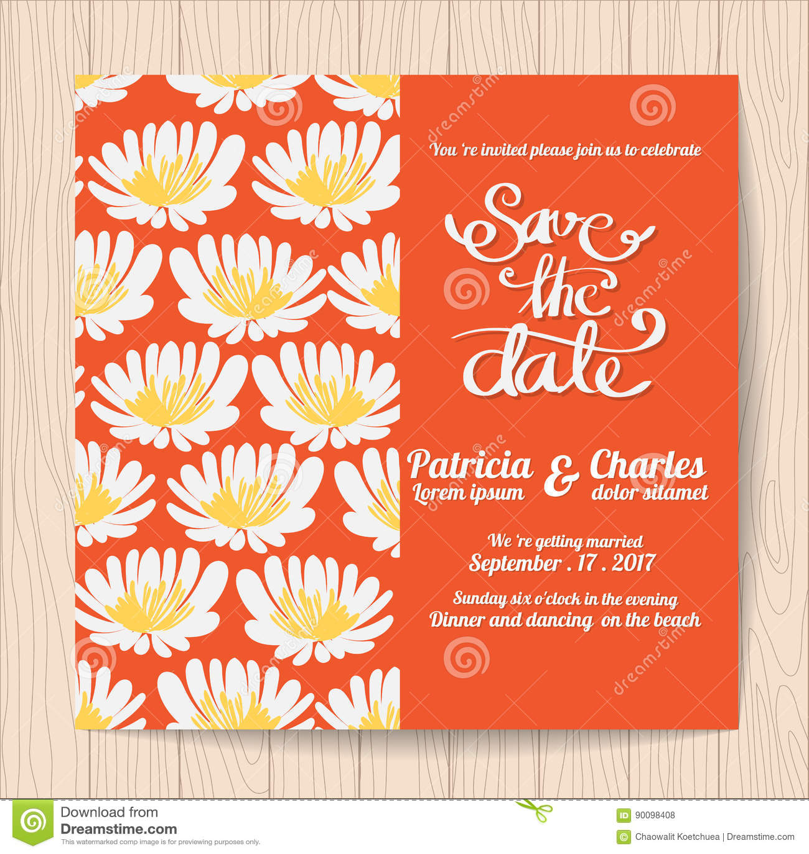 Wedding Invitation Card Templates Stock Vector - Illustration of ...