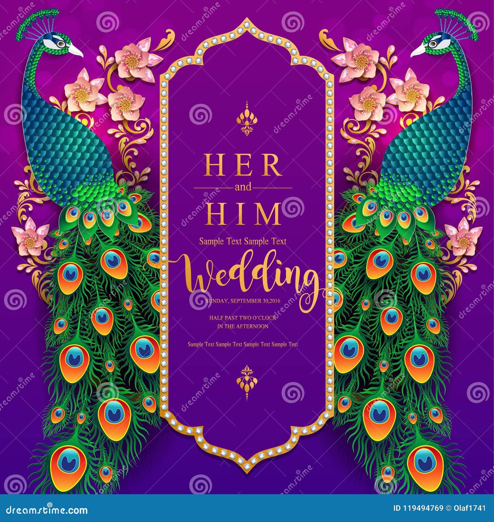 Wedding Invitation Card Templates Stock Vector