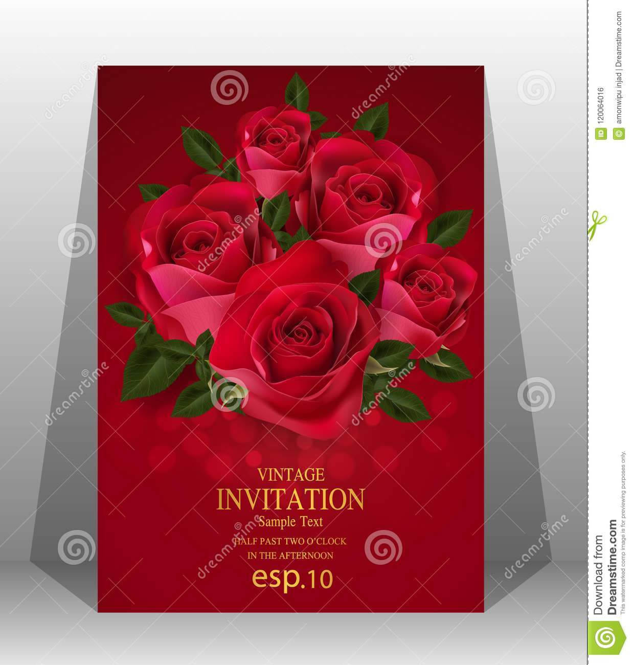 Colorful Wedding Invitation Card Template Free Download Illustration ...