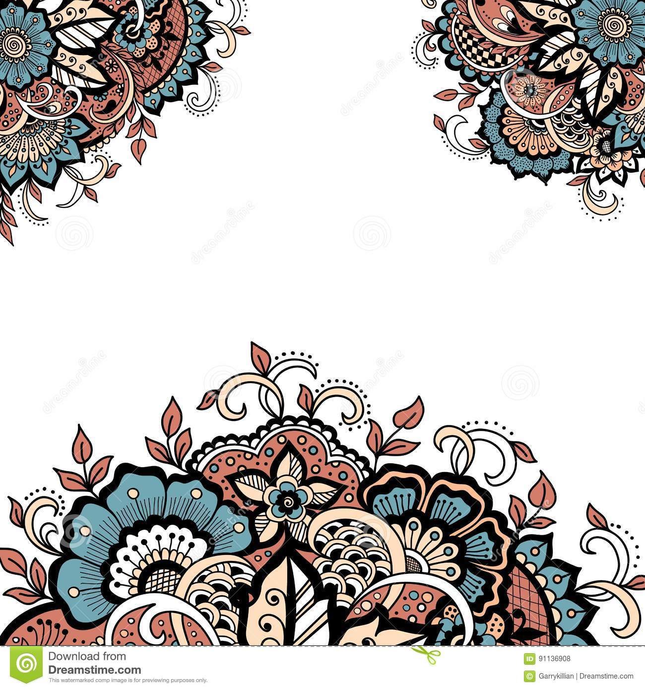 Wedding invitation card with vector abstract floral elements in download comp stopboris Images