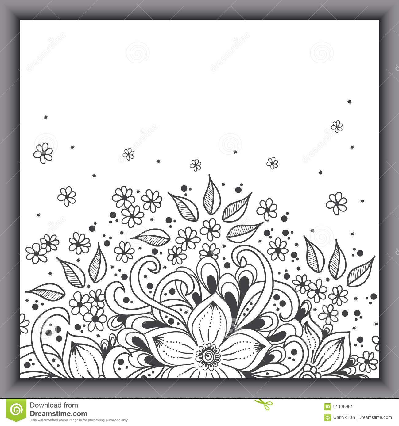 Wedding invitation card with vector abstract floral elements in download wedding invitation card with vector abstract floral elements in indian mehndi style stock vector stopboris Images