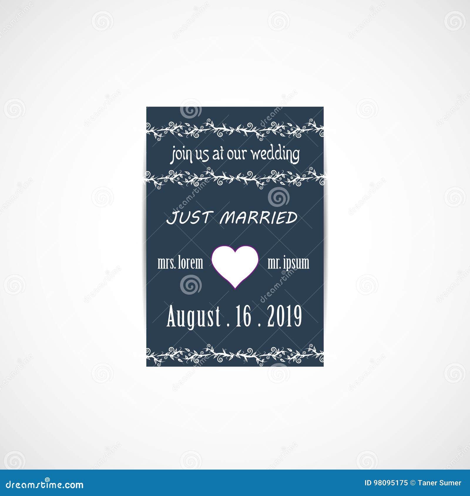 Wedding Invitation Card Stock Vector Illustration Of Border