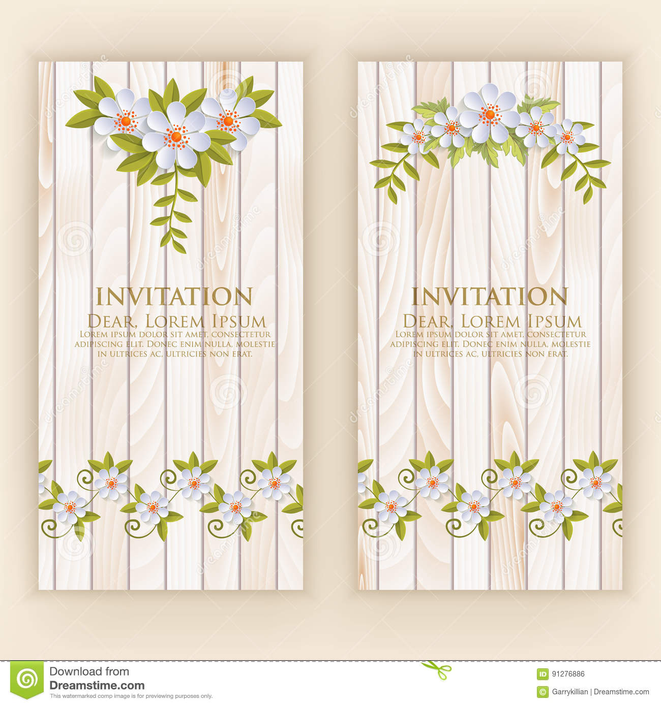 Wedding invitation card vector invitation card with elegant flower download comp stopboris Image collections