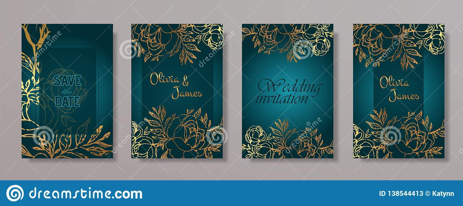 Wedding Invitation Card Vector Template For Wedding