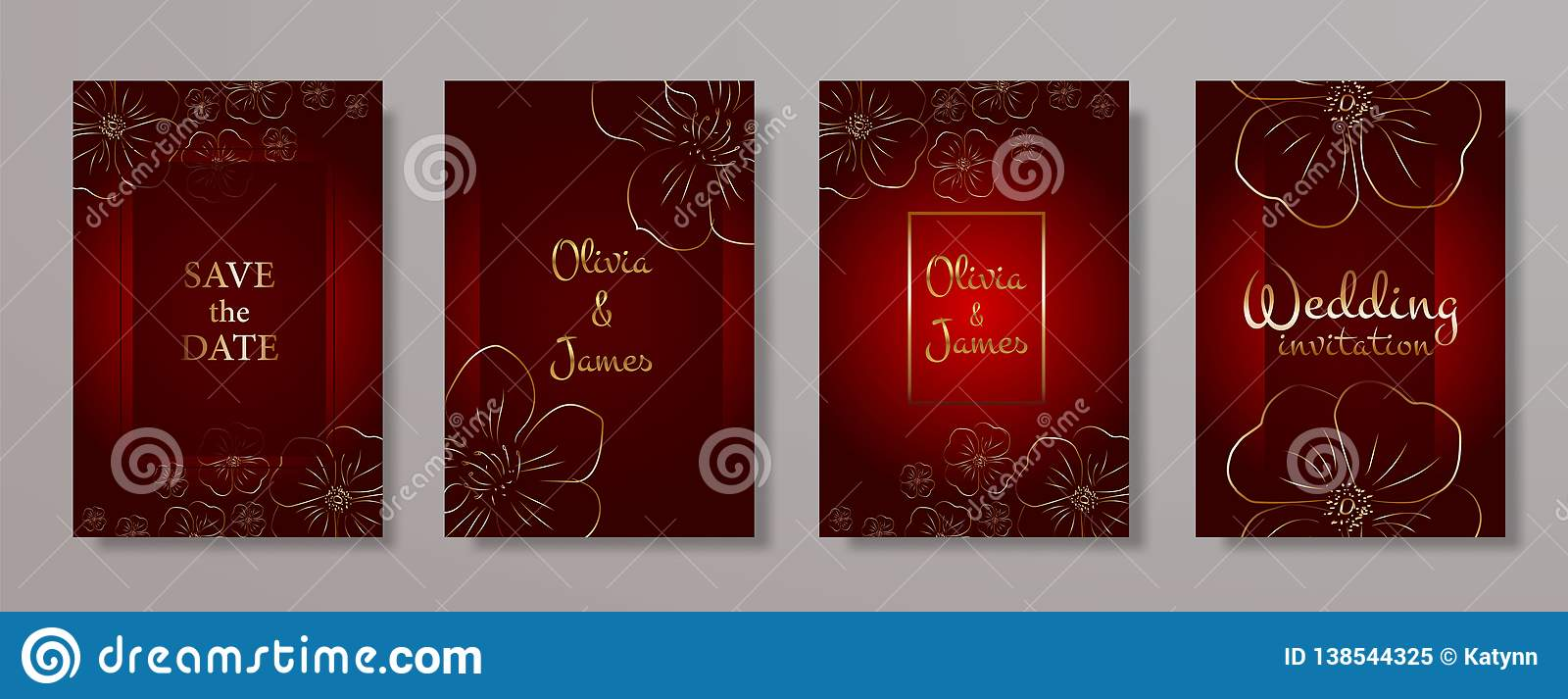 Wedding Invitation Card Vector Template For Wedding