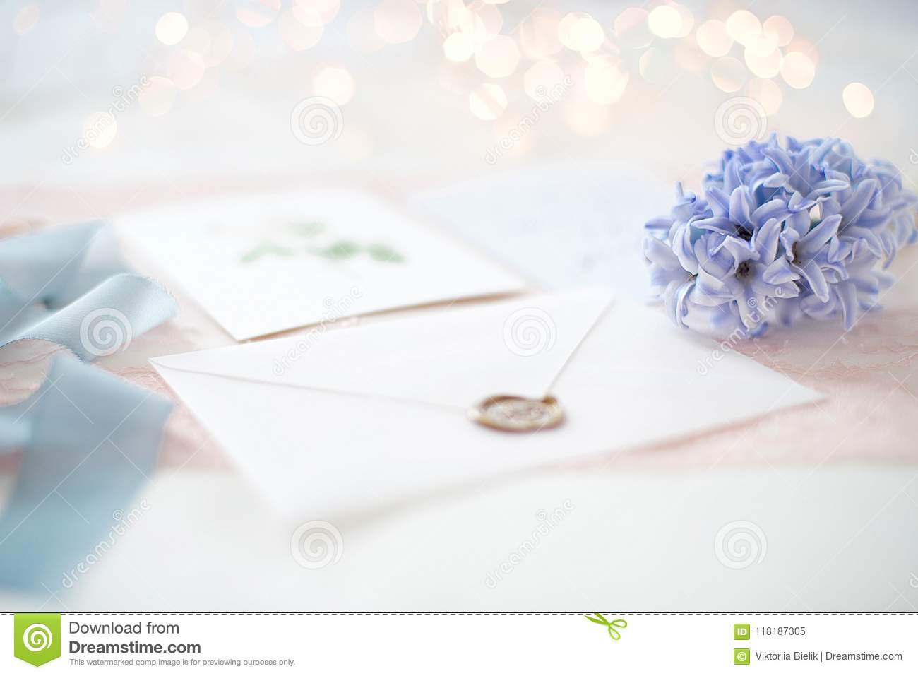 Wedding Invitation Card Stock Image Image Of Background 118187305