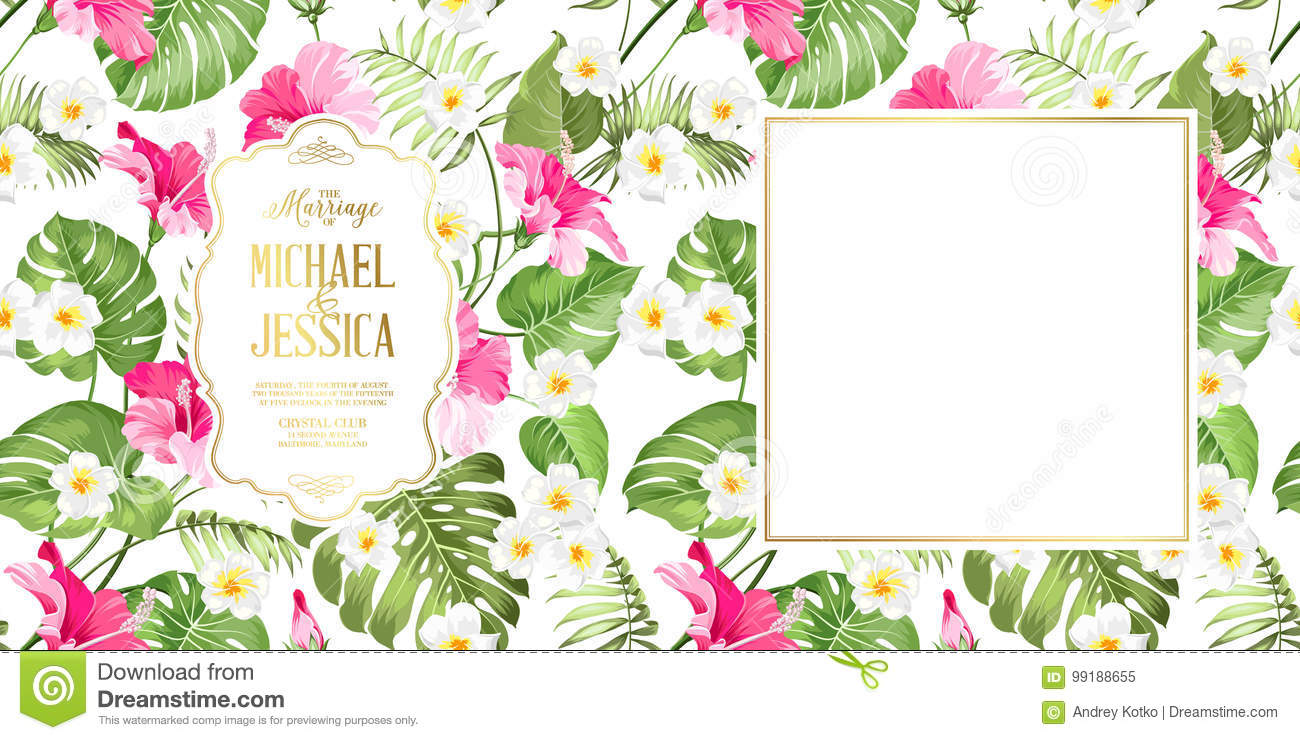 Wedding Invitation Card. stock vector. Illustration of love - 99188655