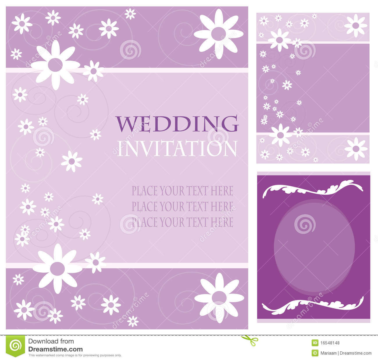 Wedding invitation cards stock illustration. Image of
