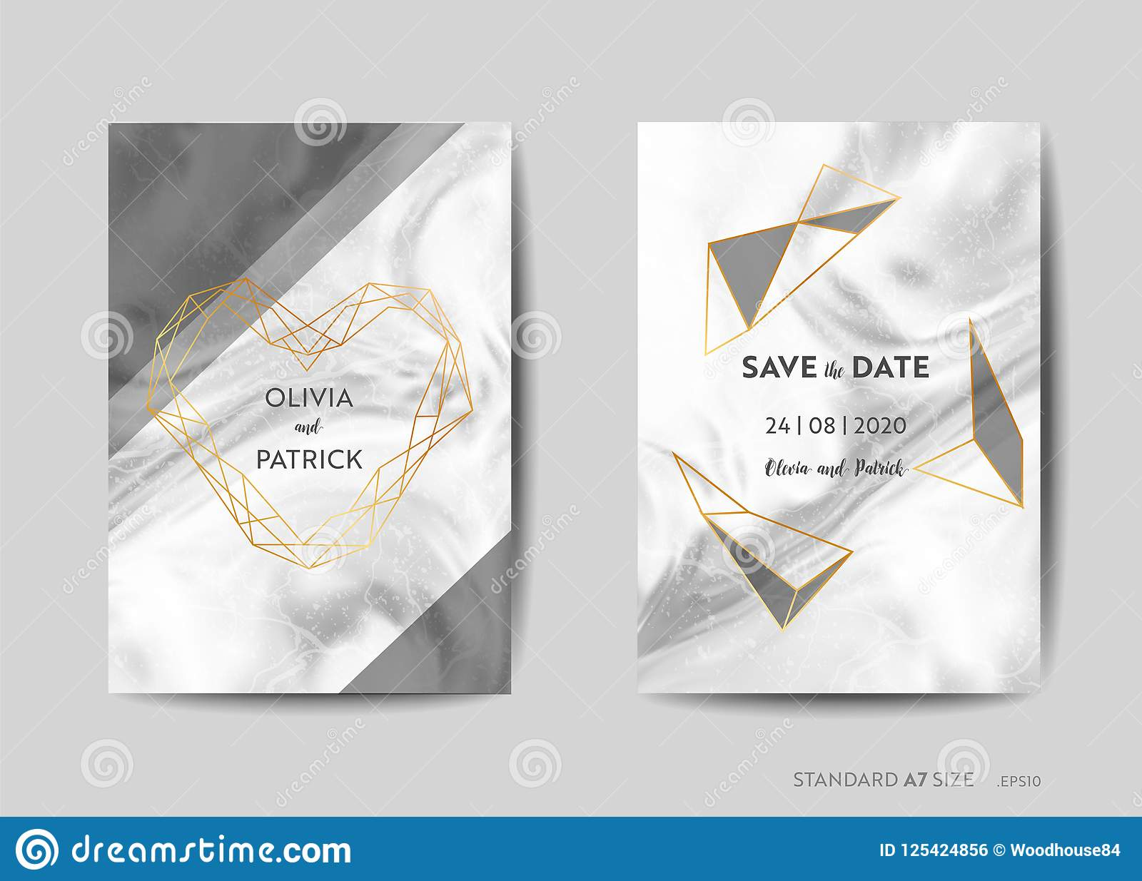 49a5ae3eaaac9 Wedding Invitation Cards, Save The Date With Trendy Marble Texture ...