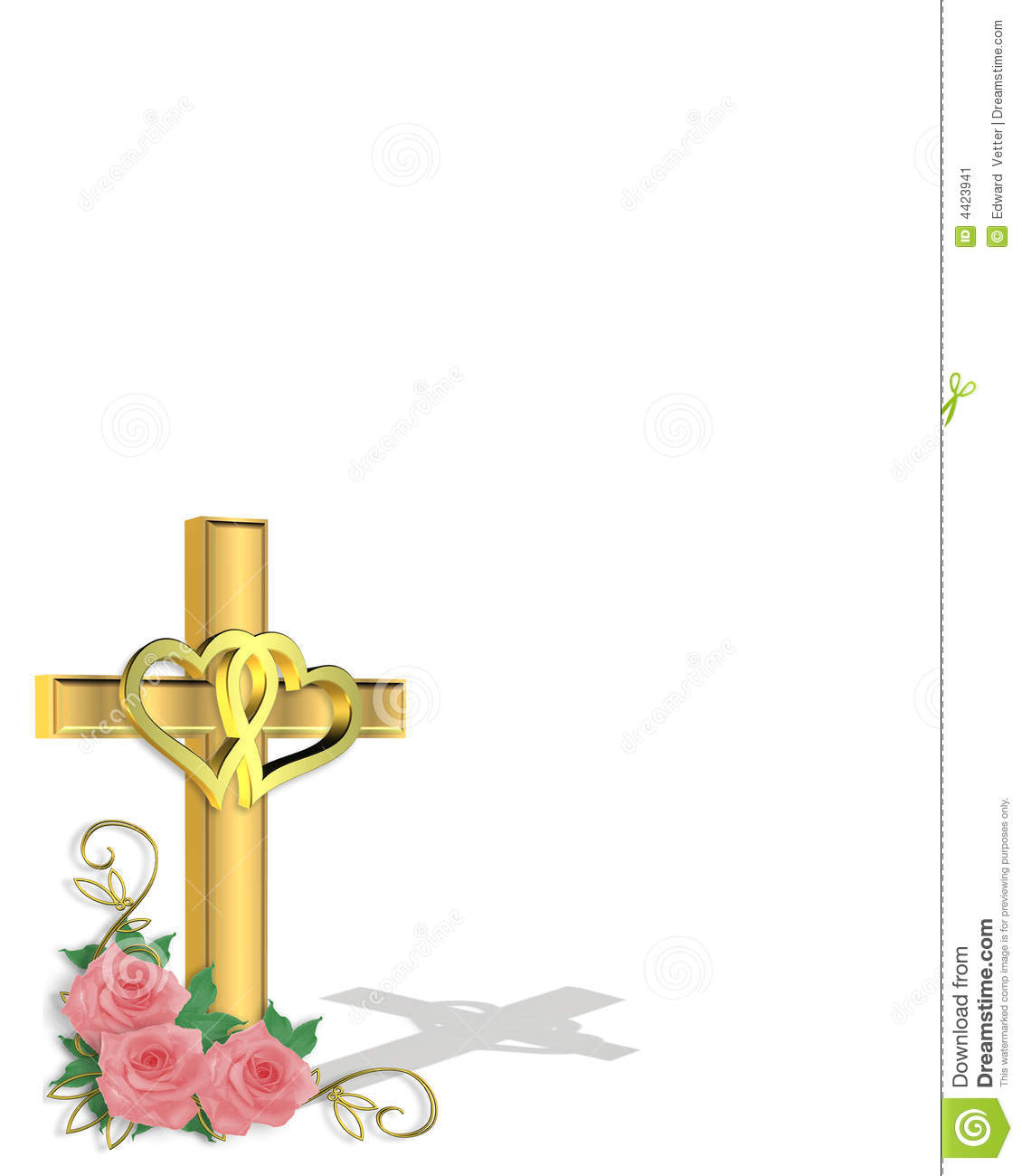 Wedding Invitation Christian Cross Stock Image - Image ...