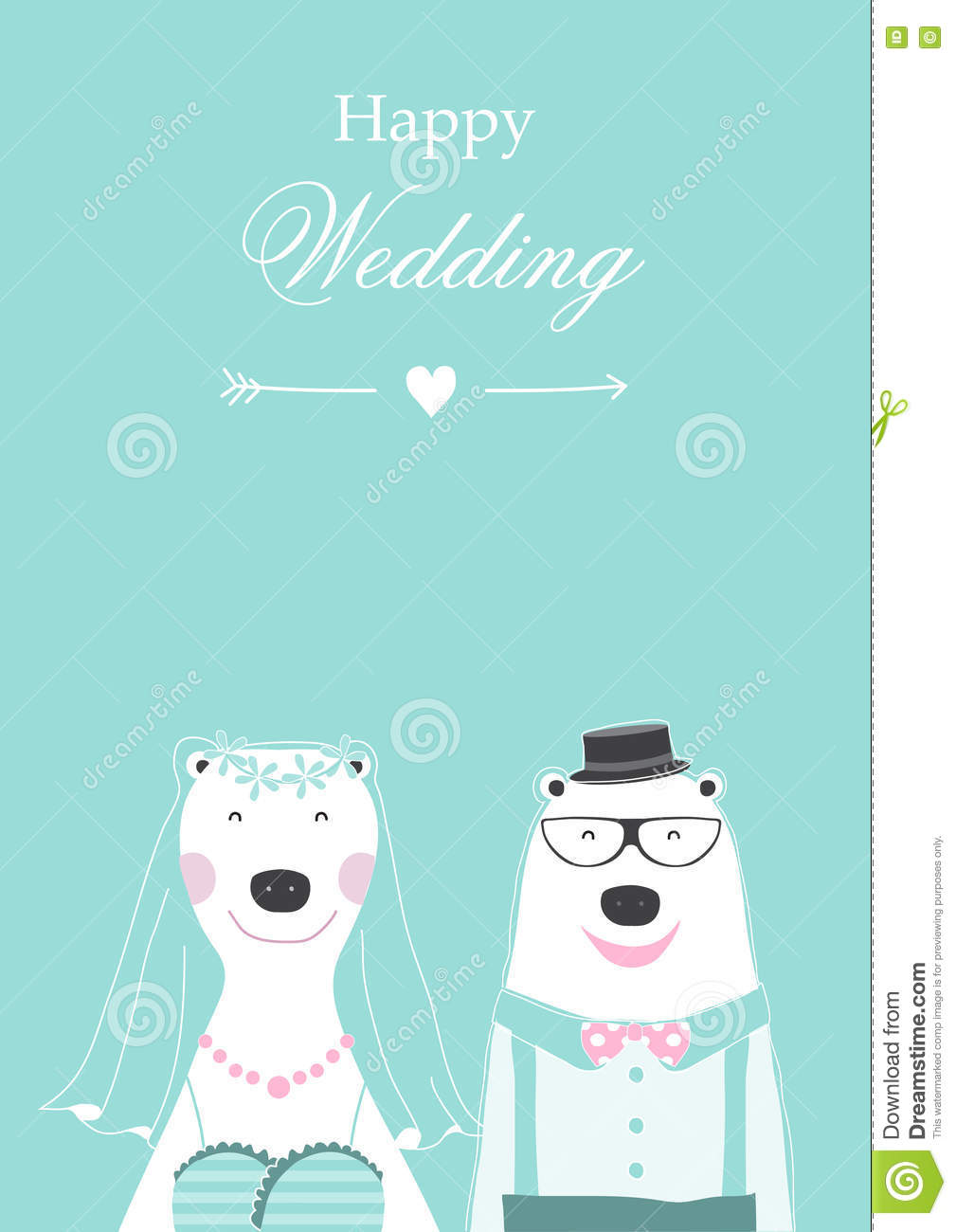 Wedding invitation with cute bears cardspostertemplategreeting wedding invitation with cute bears cardspostertemplategreeting cards animals m4hsunfo