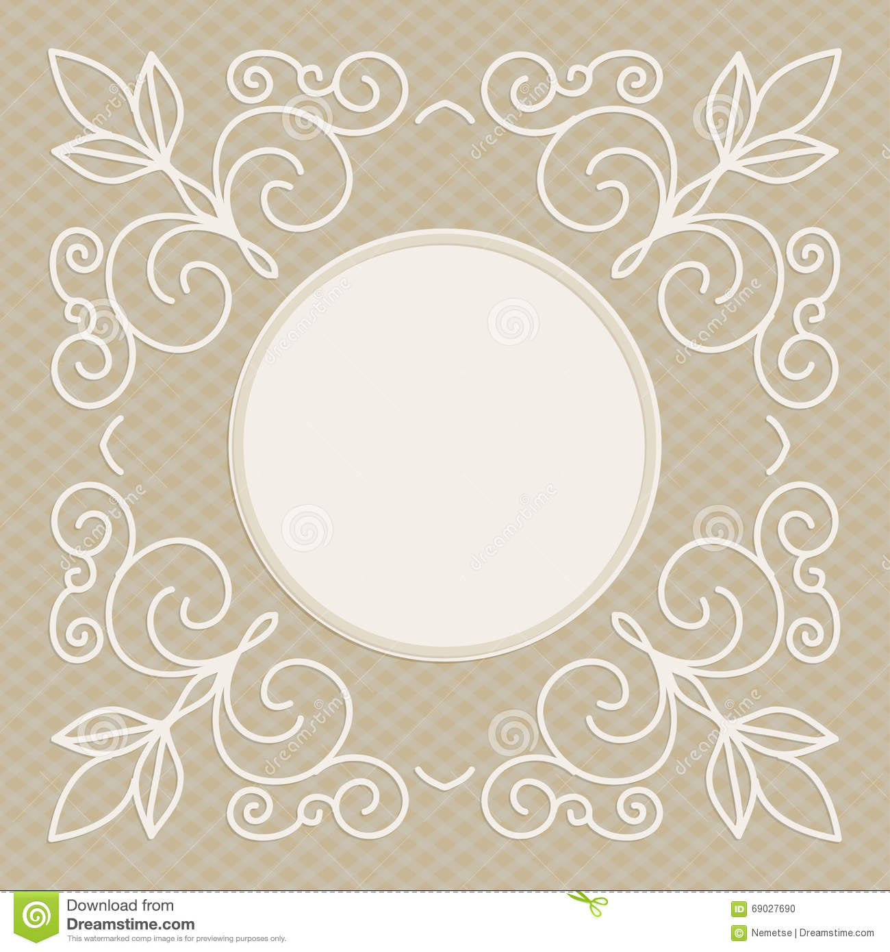 wedding invitation design template decorative background for greeting card in mono line style