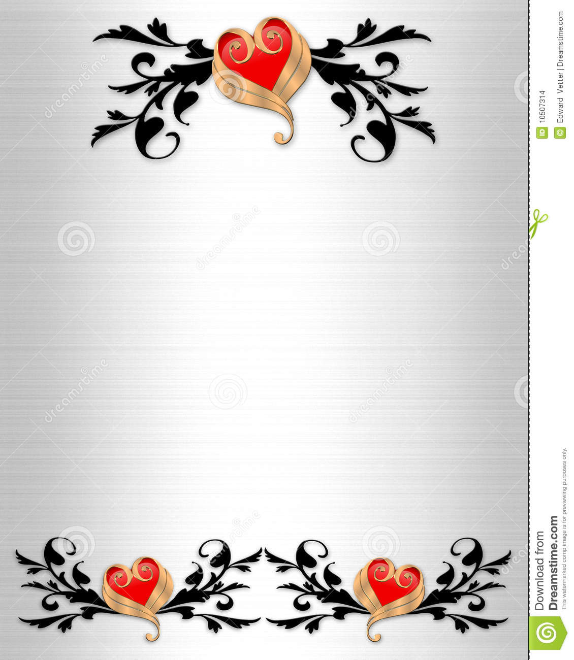 Download Wedding Invitation Elegant Borders Stock Illustration    Illustration Of Detailed, Decorated: 10507314