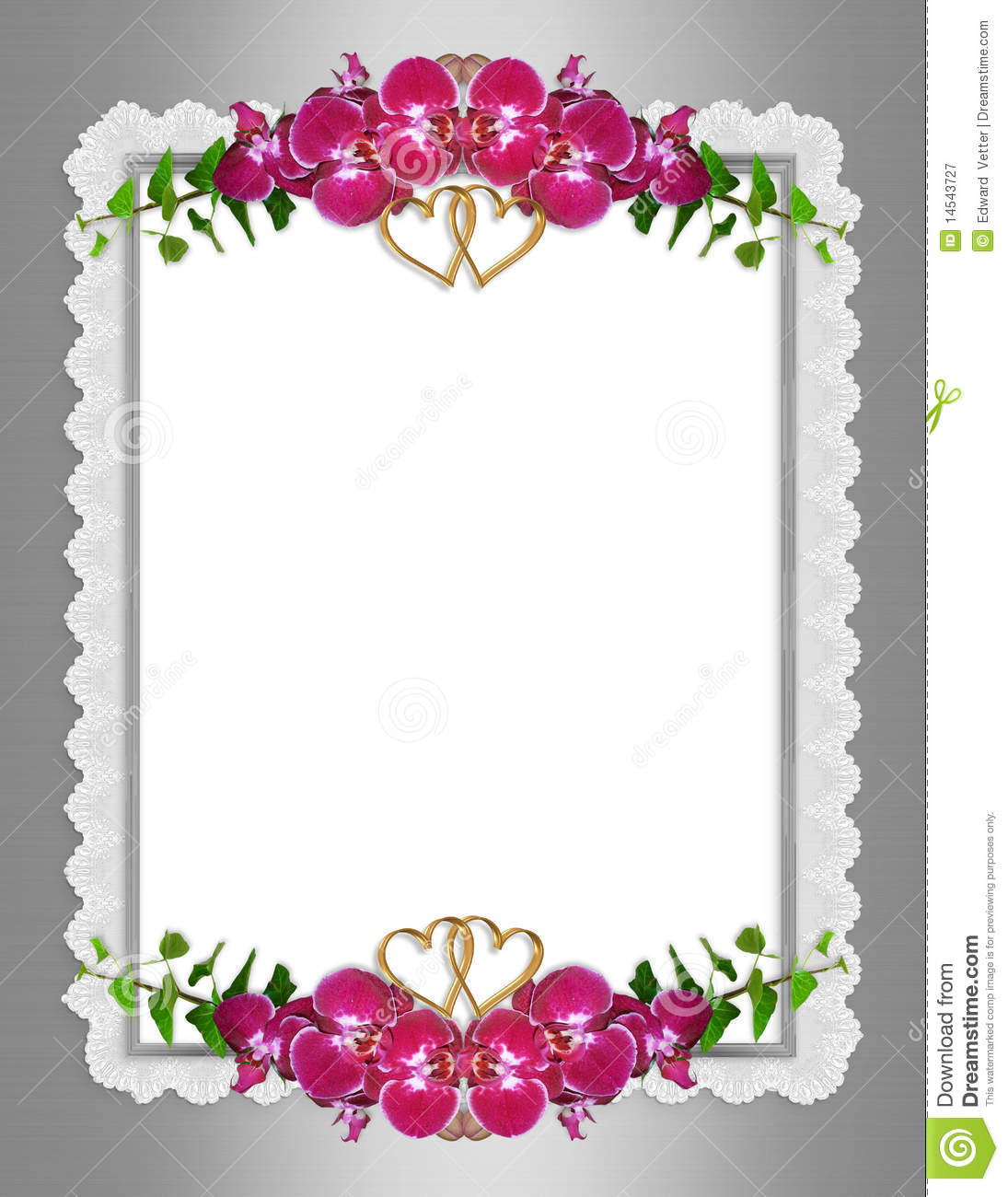 Wedding Invitation Elegant Orchids Stock Illustration ...