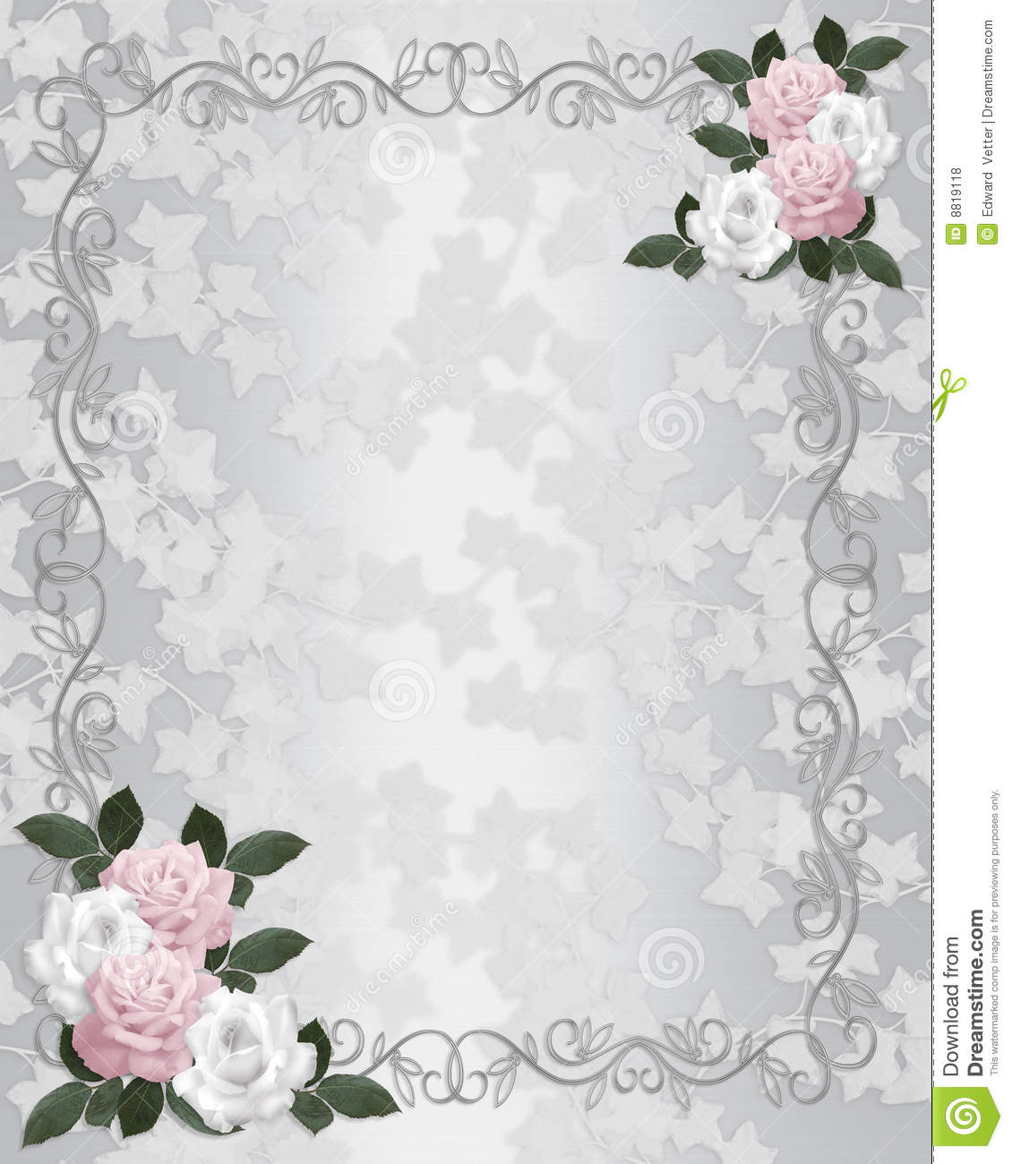 Wedding Invitation Elegant Roses Stock Illustration Illustration
