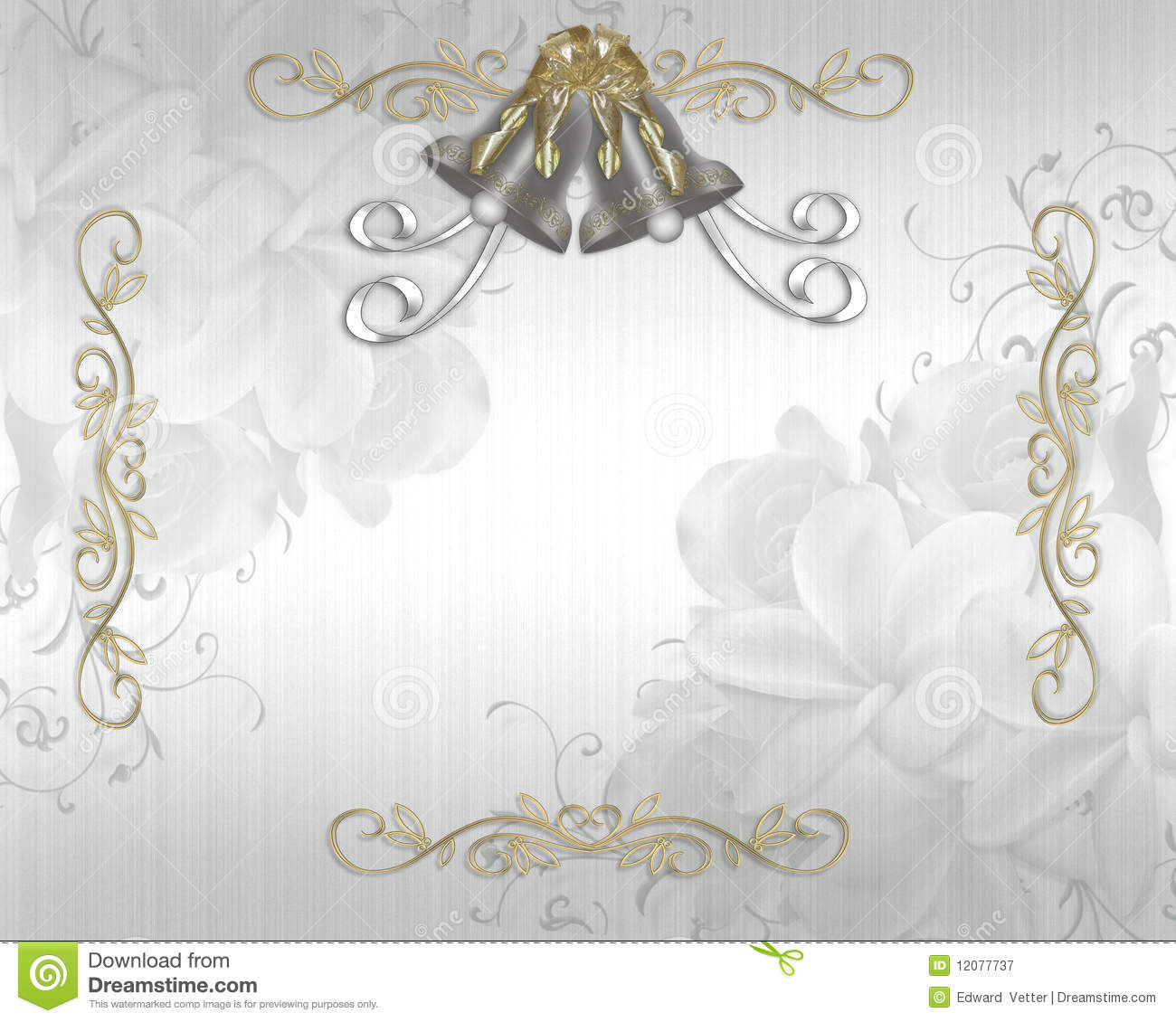 Backdrops Silver Wedding Invitations: Wedding Invitation Elegant Satin Stock Illustration