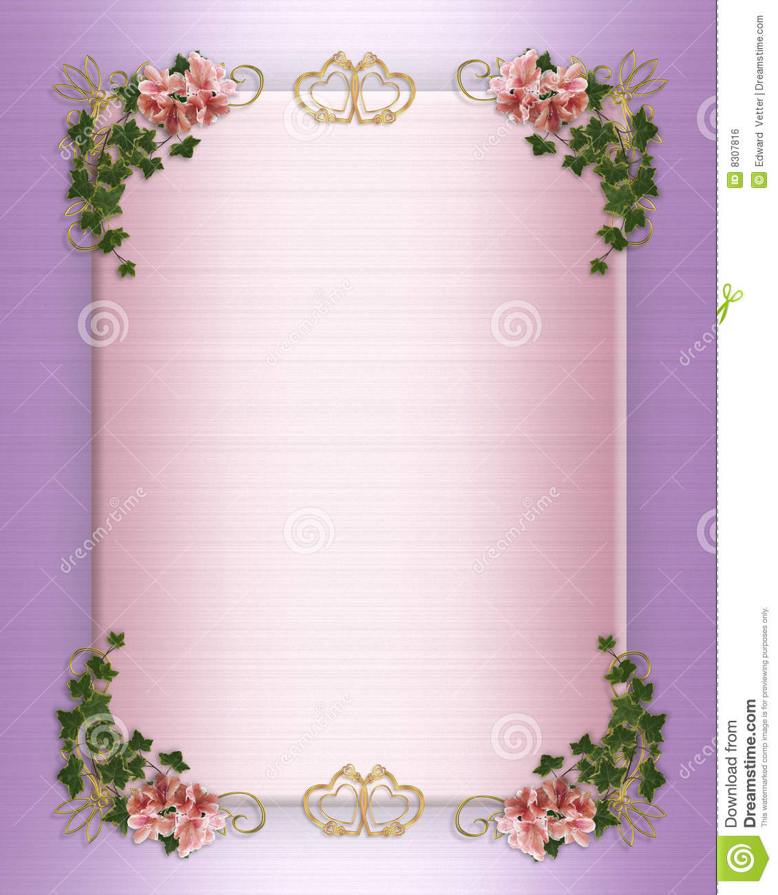 Wedding Invite Borders: Wedding Invitation Floral Border Royalty Free Stock Image