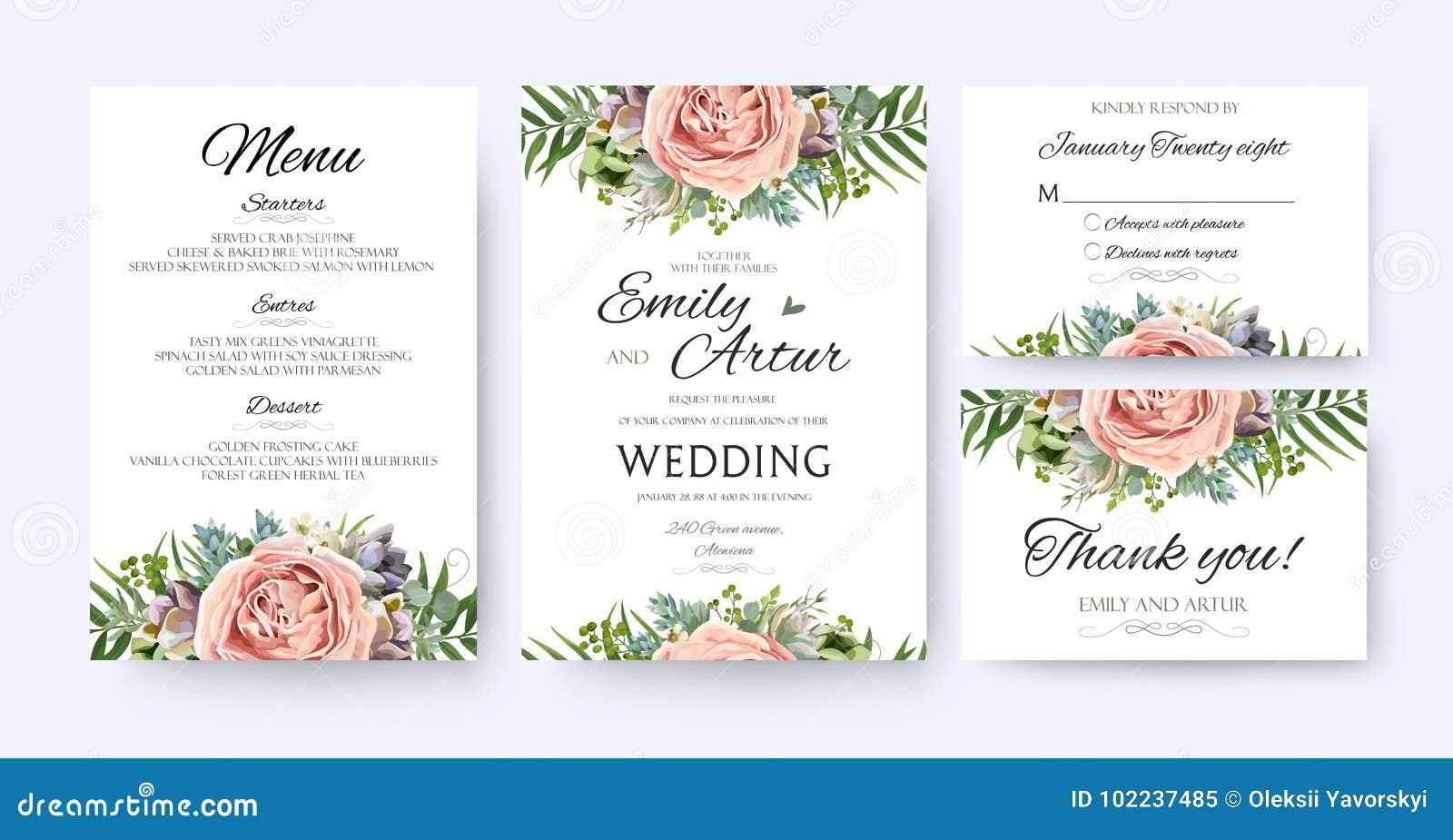 Wedding Invitation, floral invite card Design: garden lavender p