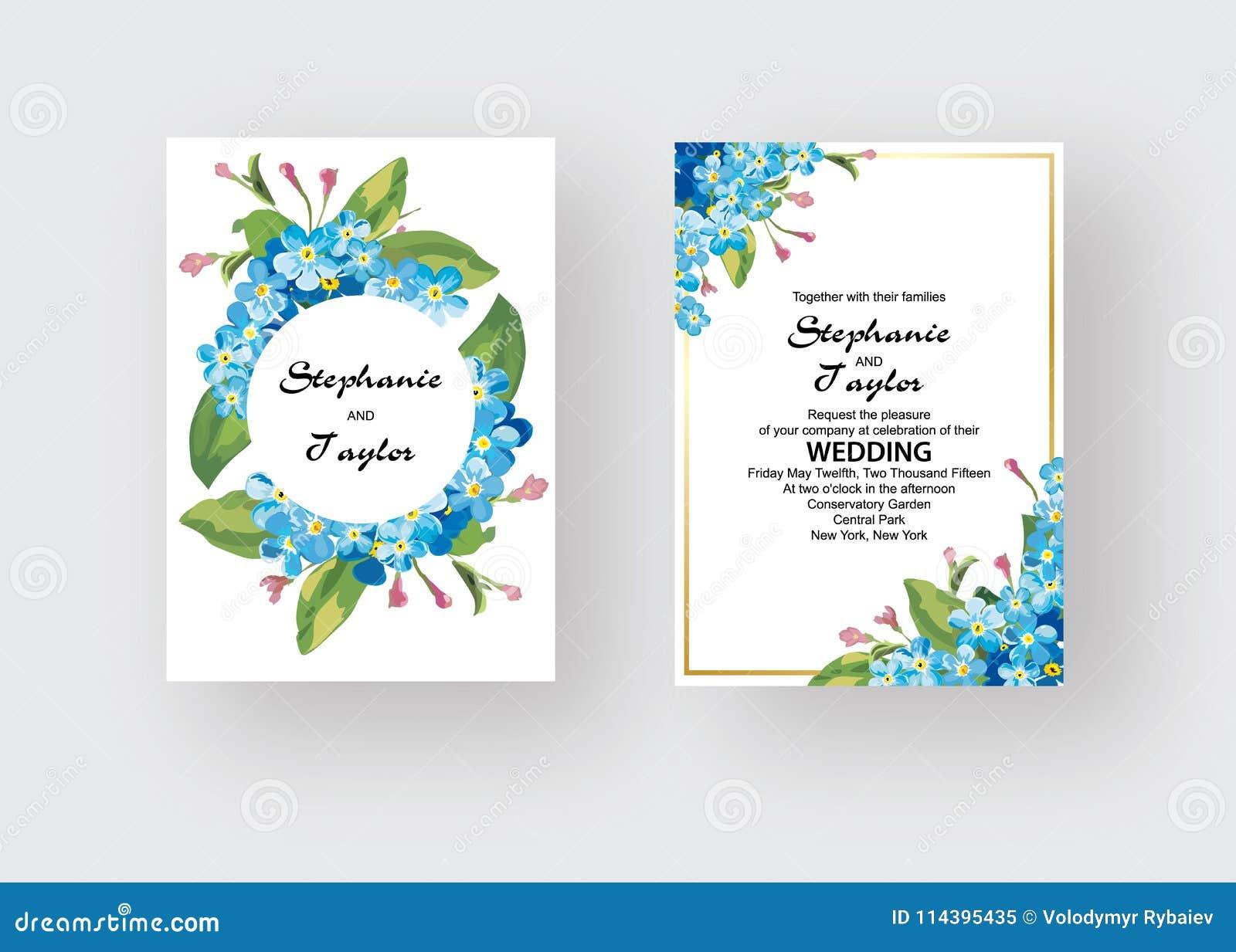 Wedding Invitation, floral invite thank you, rsvp modern card Design: green tropical palm leaf greenery eucalyptus