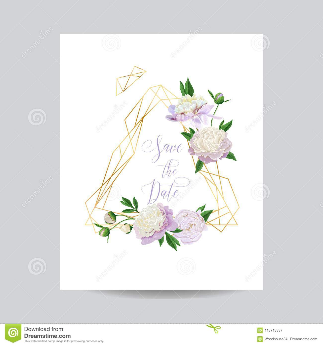 Golden Save The Date For Wedding Invitation Wedding: Wedding Invitation Floral Template. Save The Date Golden