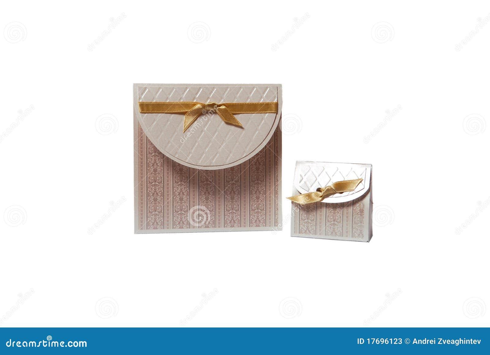 Gift Box Wedding Invitations: Wedding Invitation And Gift Box Stock Photos