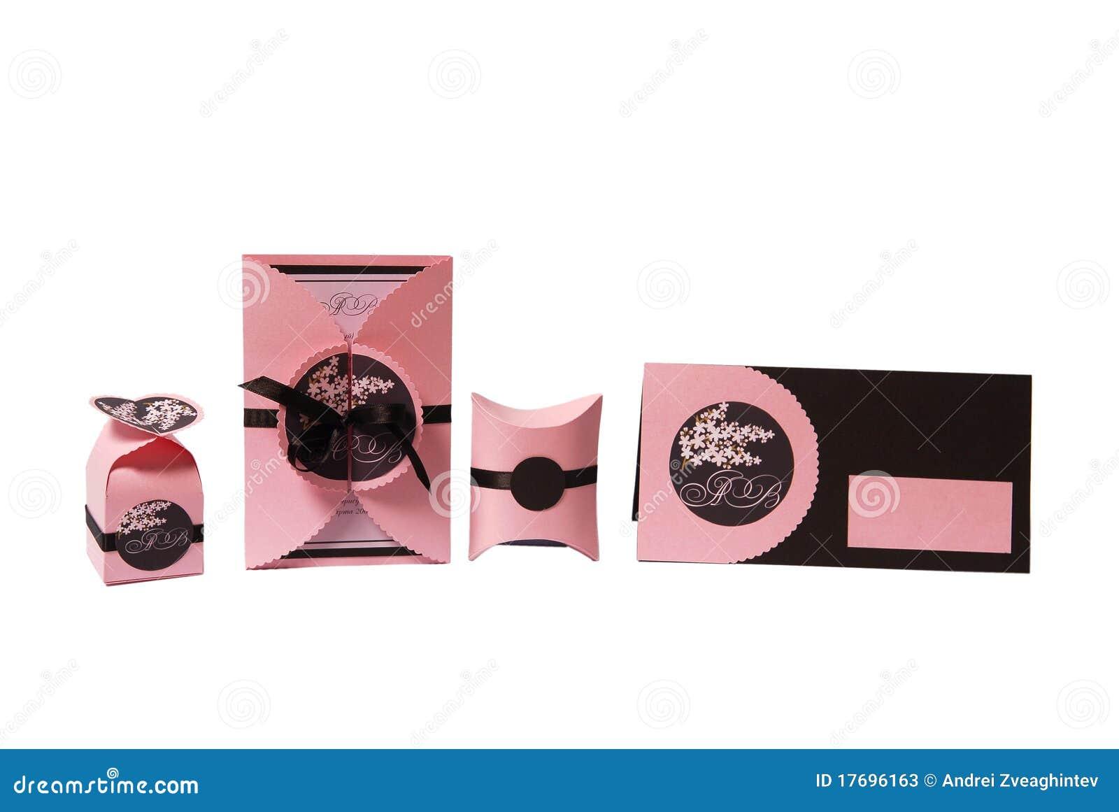 Wedding Gift Using Invitation : Wedding Invitation And Gift Box Stock PhotosImage: 17696163
