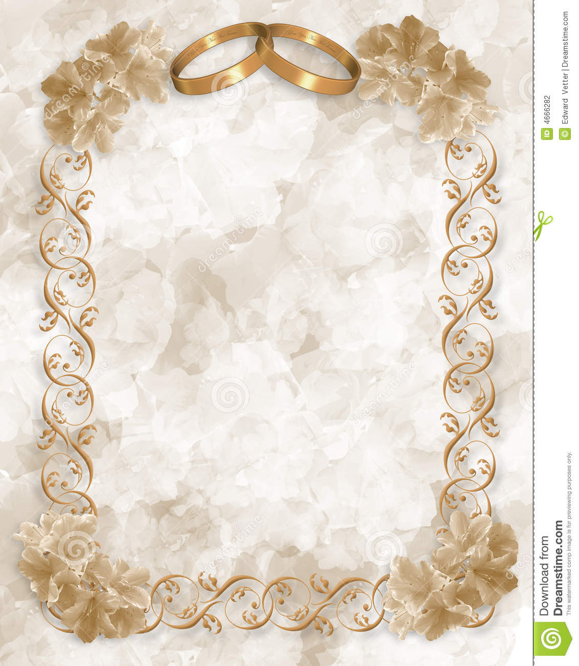 Wedding rings and flowers wallpaper