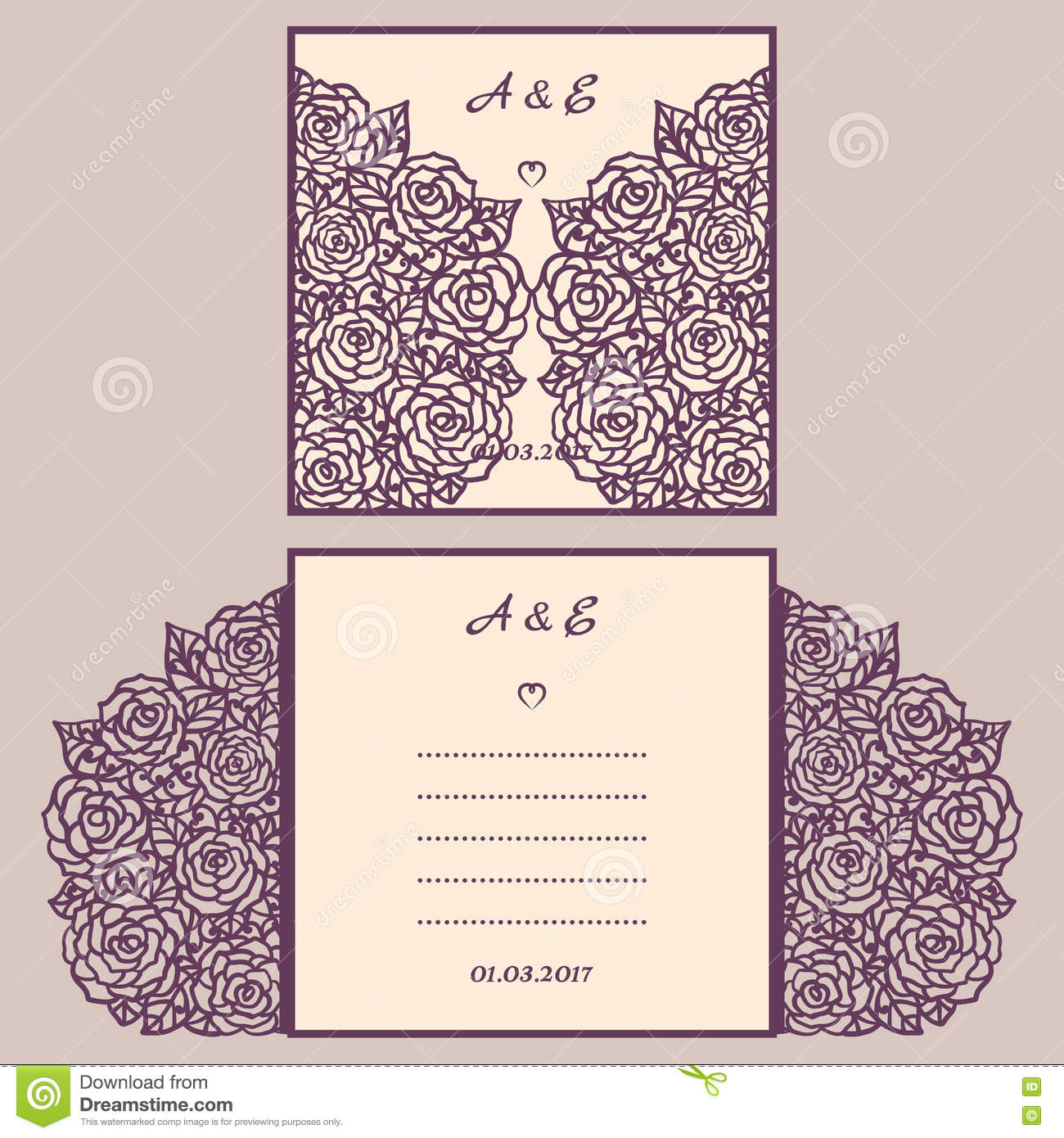 Wedding Card Envelope Templates