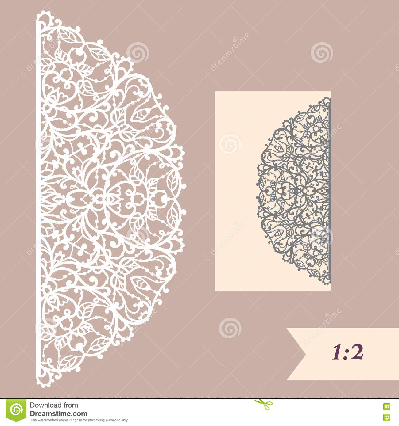 Wedding invitation or greeting card with abstract ornament vector wedding invitation or greeting card with abstract ornament vector envelope template for laser cutting paper cut card date fretwork stopboris Images