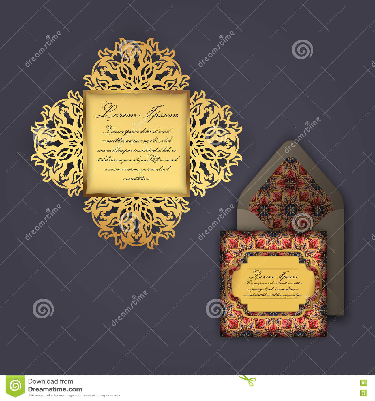 Wedding invitation or greeting card with vintage floral ornament download comp stopboris Image collections