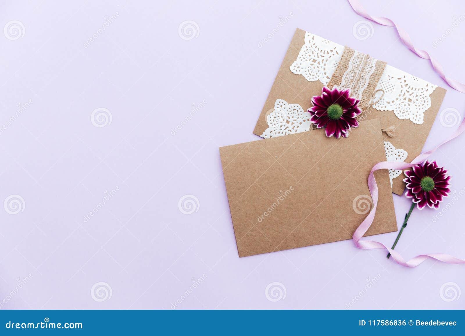 Wedding Invitation Greetings Card Stock Photo Image Of