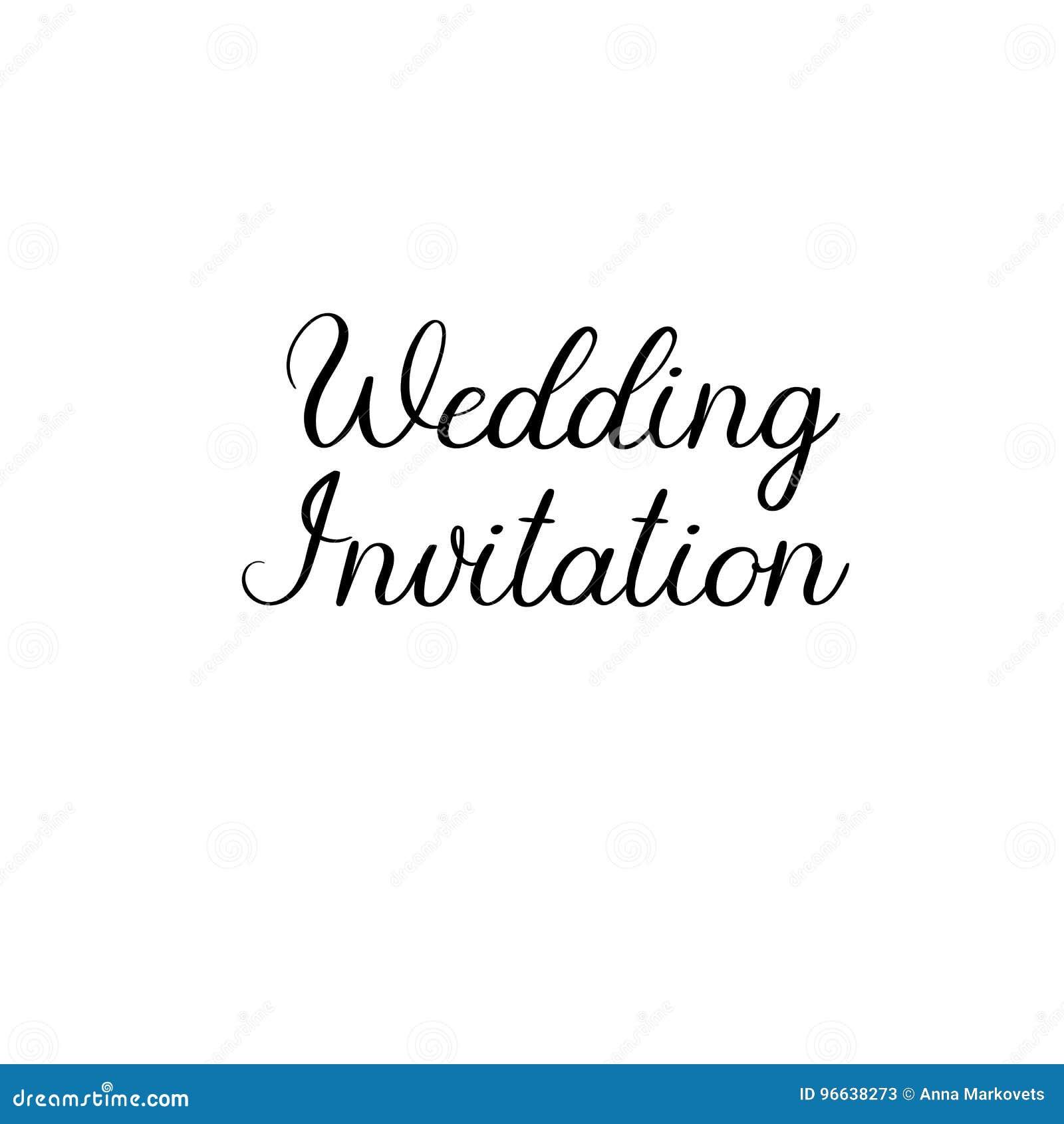 Wedding invitation handwritten calligraphy for greeting cards wedding invitation handwritten text calligraphy inscription for greeting cards wedding invitations vector brush calligraphy wedding phrase stopboris Gallery