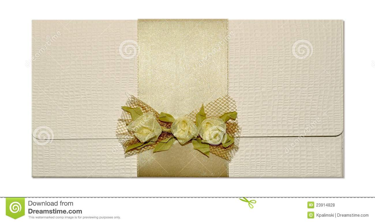 Wedding Invite Card Stock: Wedding Invitation Mail Or Greeting Card Envelope Royalty
